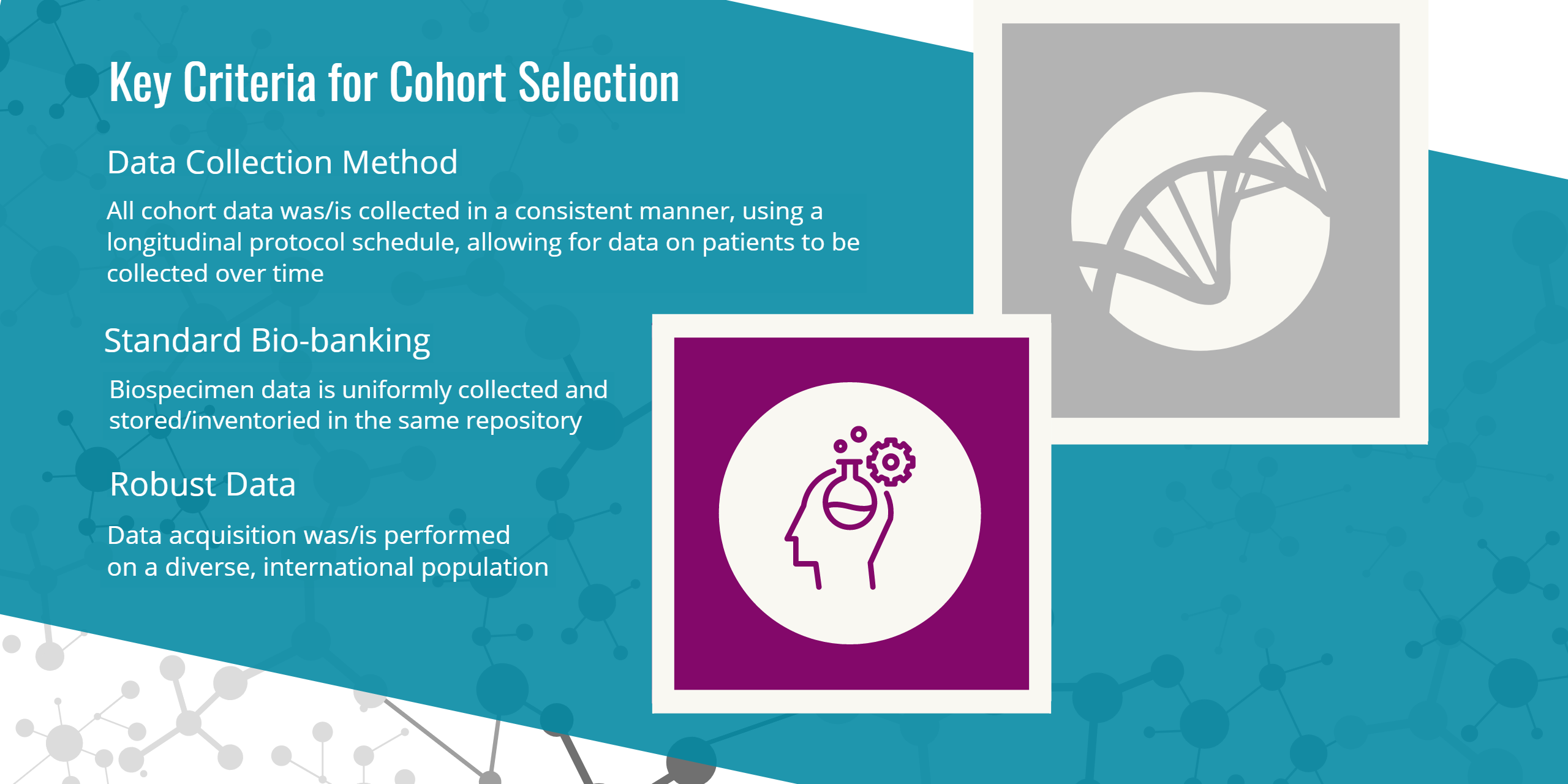 Cohort key criteria selection graphic